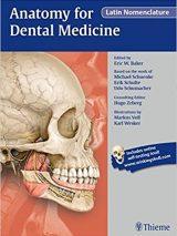 Anatomy For Dental Medicine Latin Nomenclature 2016