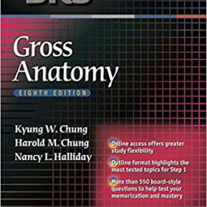 BRS Gross Anatomy -Board Review Series