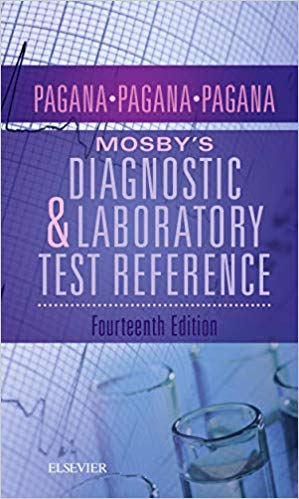 Mosby's Diagnostic And Laboratory Test Reference –  Pagana-  2019