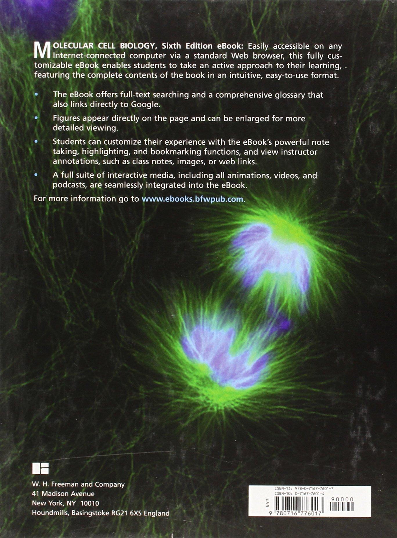 Molecular Cell Biology Lodish افست لودیش ۲۰۱۶ اشراقیه پشت