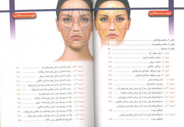 فهرست کتاب راهنمای کاربردی لیزر درمانی زیبایی