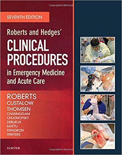 کتاب کتاب رفرنس طب اورژانس | پروسیجرهای های درمانی و تشخیصی اورژانس هجز 2018