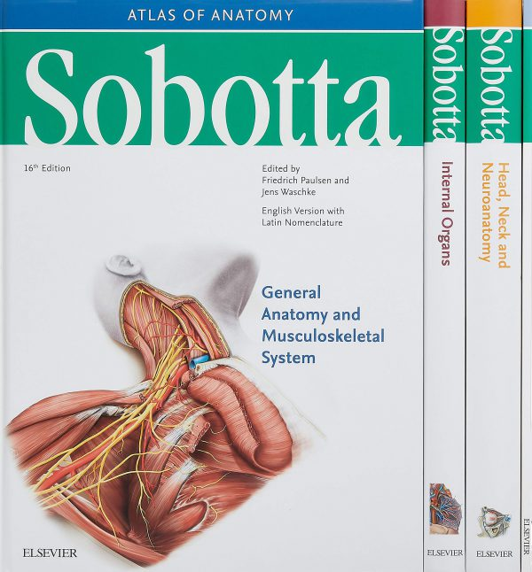 Atlas of Human Anatomy Sobotta 2018 - اطلس آناتومی زوبوتا - سه جلدی | کتاب اطلس آناتومی زوبوتا 2018