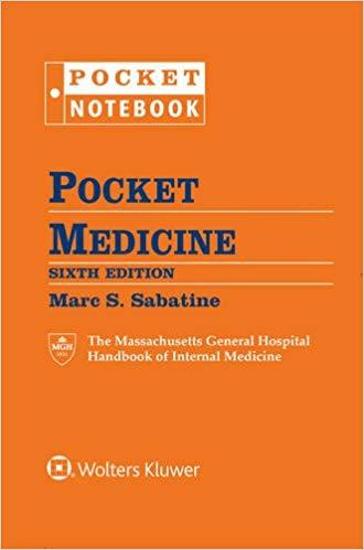 کتاب ماساچوست هندبوک داخلی Massachuset Pocket medicine