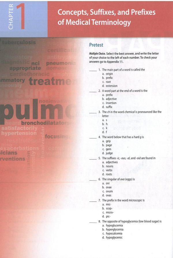 Medical terminology 2020 نمونه داخل کتاب ترمینولوژی کوهن