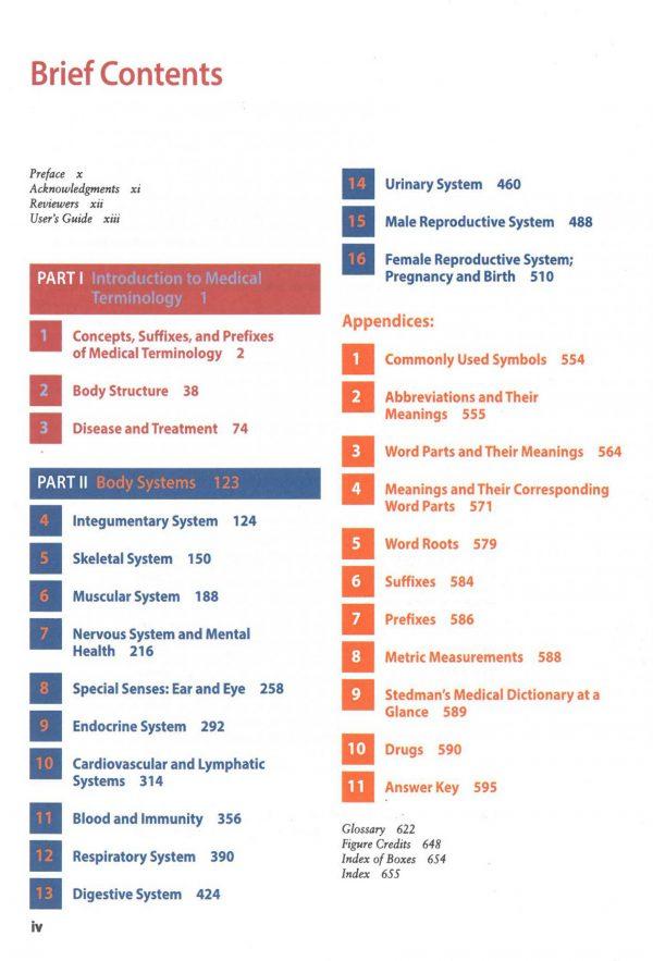 Medical terminology 2020 نمونه داخل کتاب ترمینولوژی کوهن 4