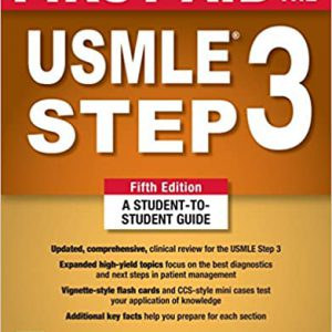 First Aid For The USMLE Step 3 – 2018