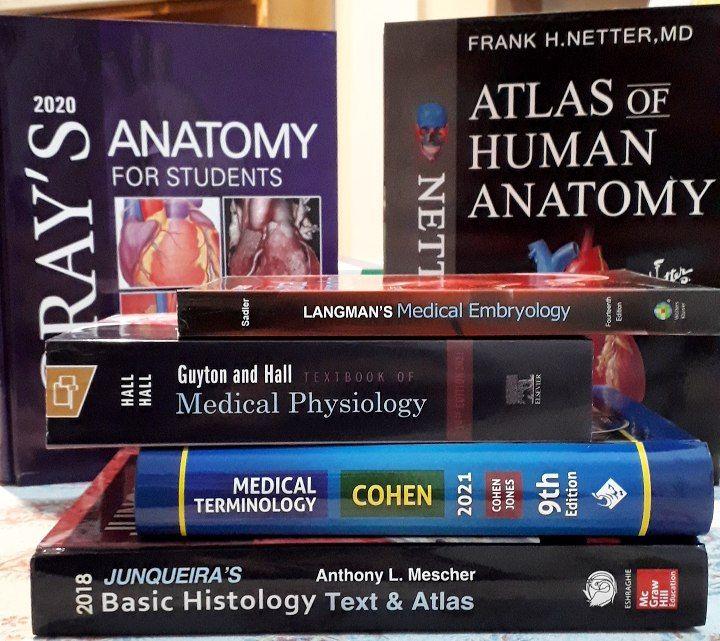 بسته و پکیج کتاب های ترم اول پزشکی به زبان انگلیسی | نشر اشراقیه | شامل کتاب های گری نتر لانگمن ترمینولوژی گایتون جان کوئیرا