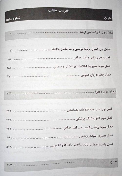فهرست بانک سوالات انفورماتیک پزشکی | از 1388 تا 1394